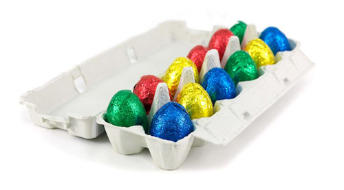 Photo of foiled candy eggs