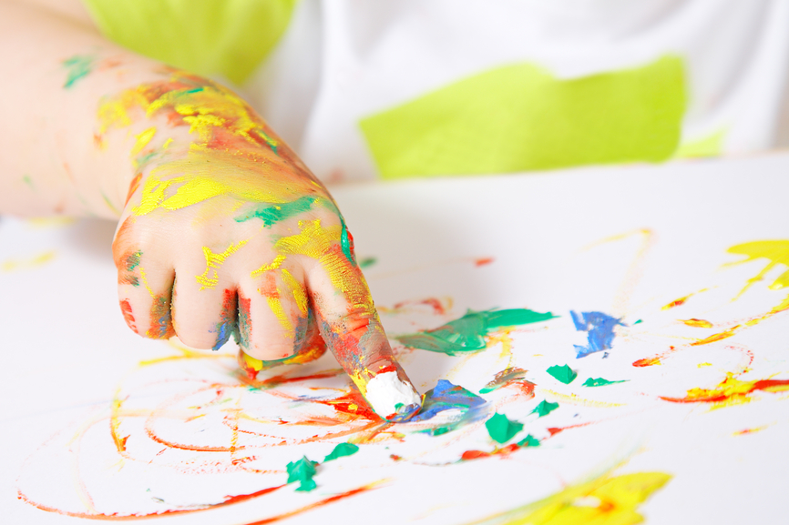 finger painting - Children Painting Images