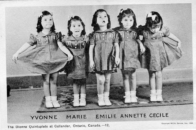 Image result for the dionne quintuplets