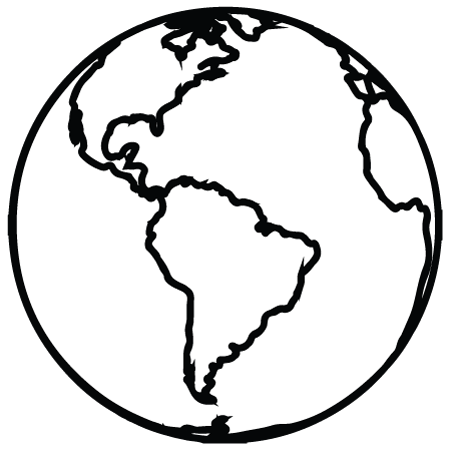 Simple Earth Outline Earth outline