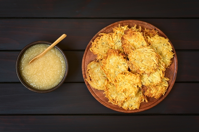 Potato Pancake or Fritter with Apple Sauce